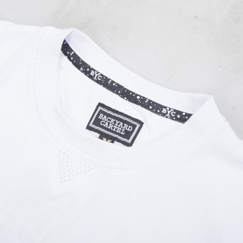Backyard Cartel t-shirt Why Long long fit white