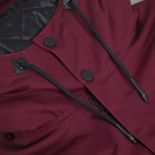 Backyard Cartel winter jacket Parka Long long fit claret