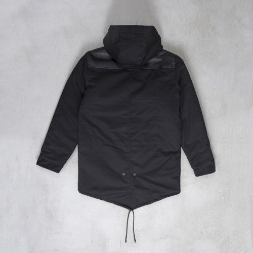 Backyard Cartel winter jacket Parka long fit black