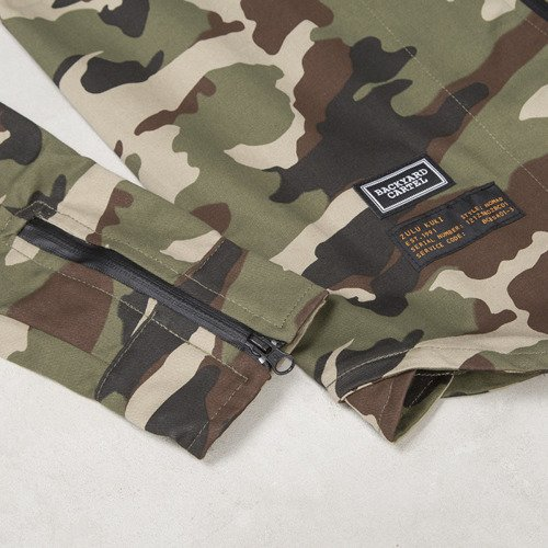Backyard Cartel x Zulu Kuki shirt ZULU woodland camo LIMITED EDITION