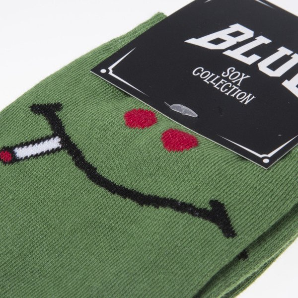 Blud socks Green Smile quarter green