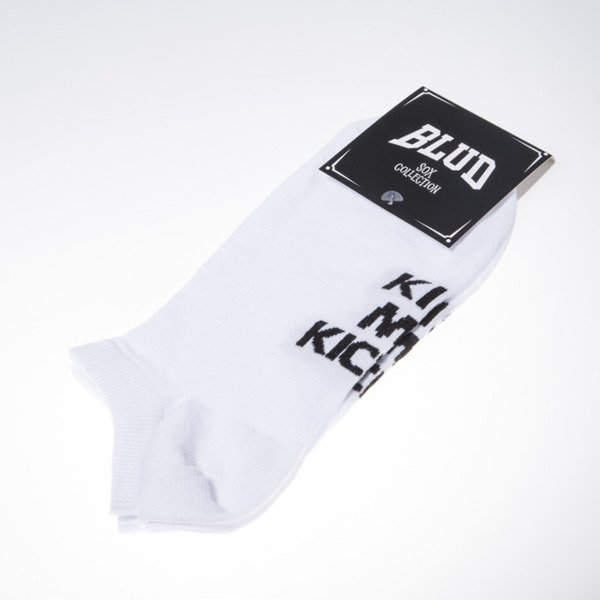 Blud socks Kiss no show white