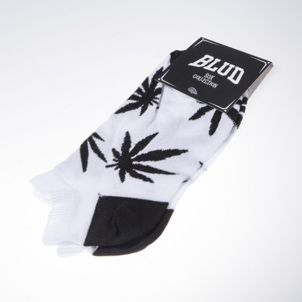 Blud socks Kush no show white