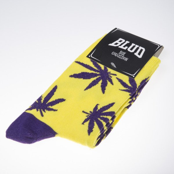 Blud socks Kush quarter yellow