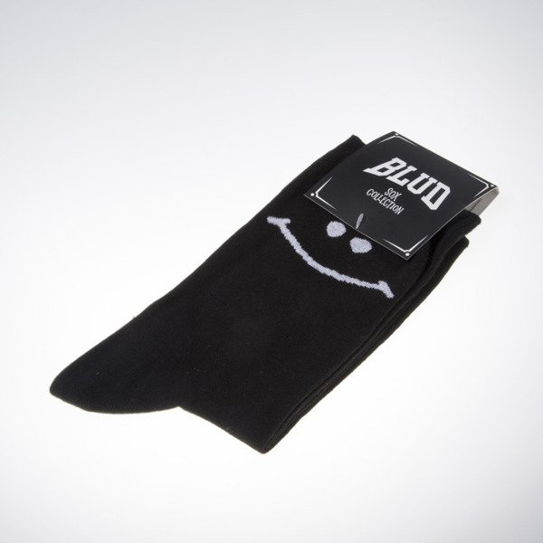 Blud socks Smile quarter black