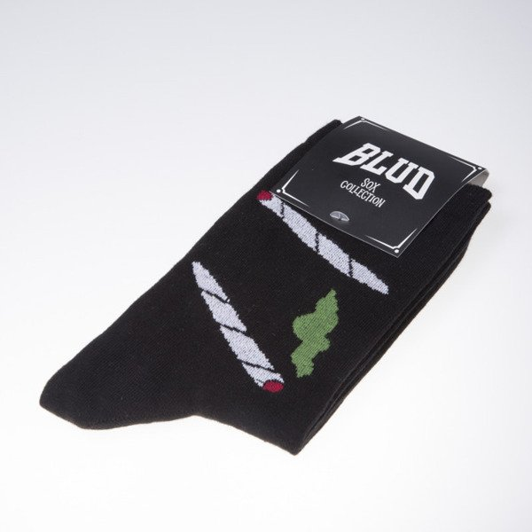 Blud socks Smoke quarter black
