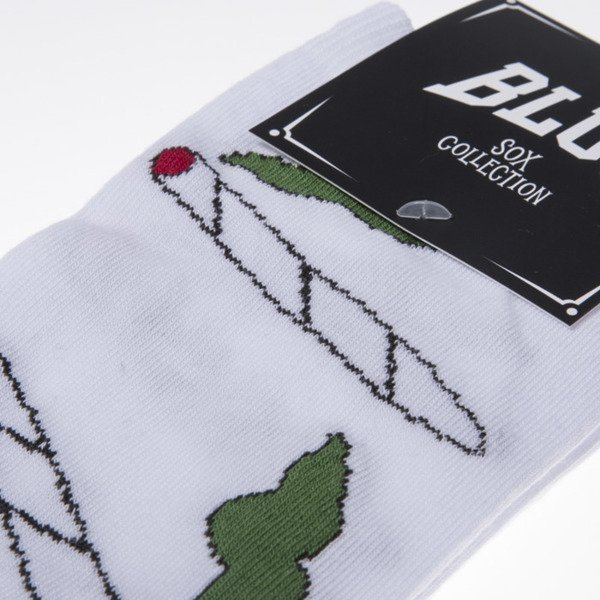 Blud socks Smoke quarter white