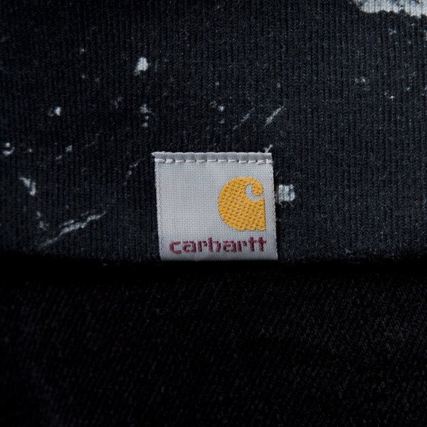 Carhartt WIP Fan Sweat marble print / black / white