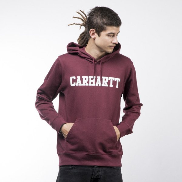 Carhartt WIP Hooded College Sweat chianti / white