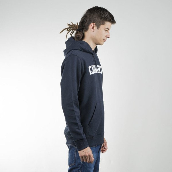 Carhartt WIP Hooded College Sweat navy / white