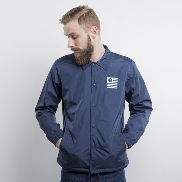 Carhartt WIP State Coach Jacket blue / white