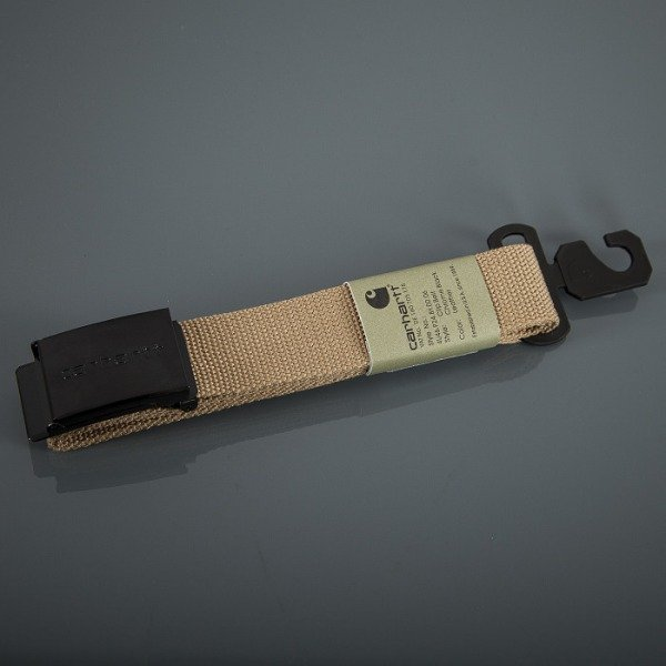 Carhartt WIP belt Clip Chrome Black Leather