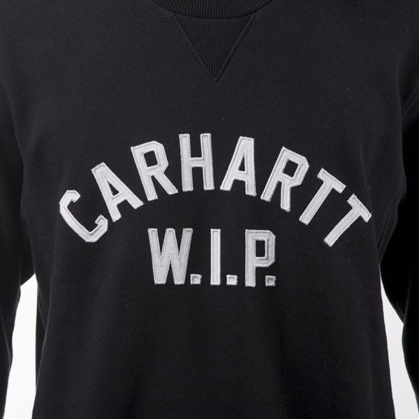 Carhartt WIP crewneck USS Script Sweat black / white washed