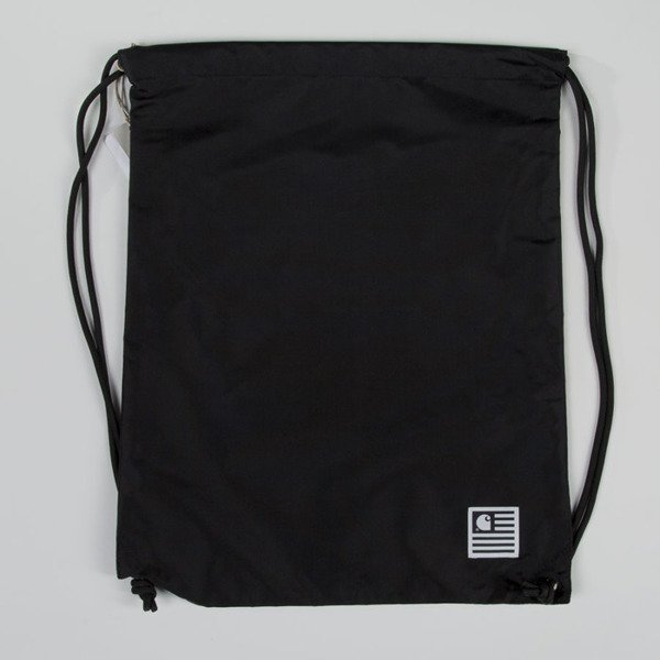 Carhartt WIP gymbag State Bag black / white