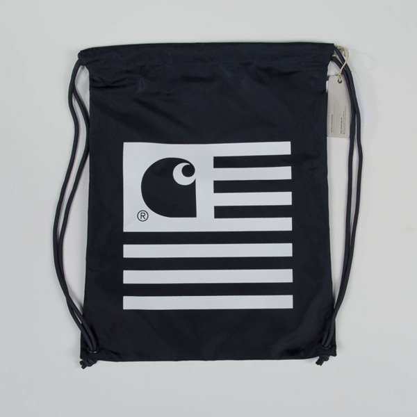 Carhartt WIP gymbag State Bag navy / white