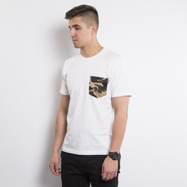 Carhartt WIP t-shirt Contrast Pocket white / camo duck