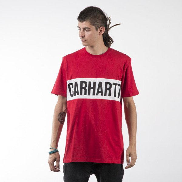 Carhartt WIP t-shirt Shore fire / white / black