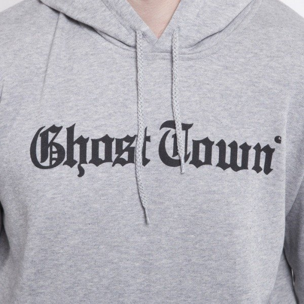 Carhartt bluza Ghost town hoody grey hether / black