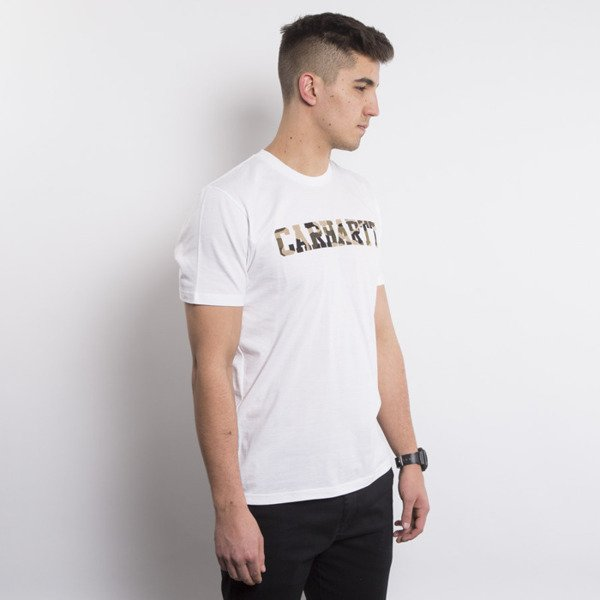 Carhartt t-shirt College LT white / camo duck