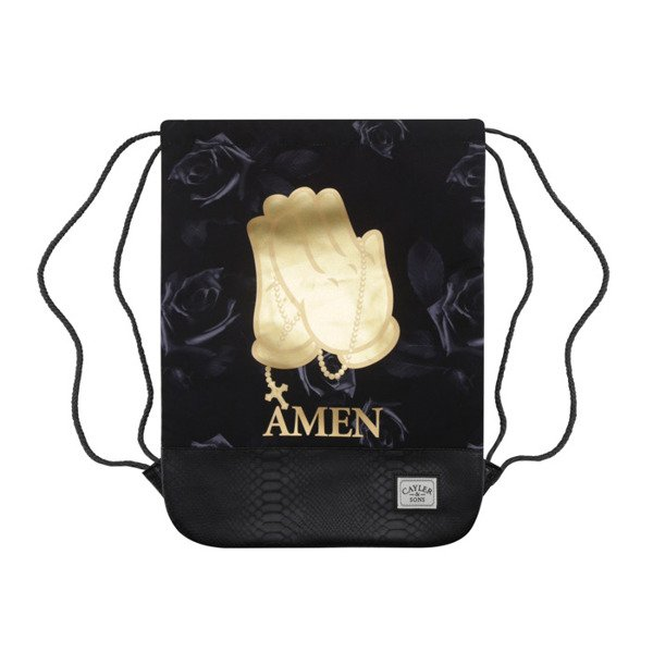 Cayler & Sons Amen Gymbag black / gold WL-CAY-AW16-GB-06
