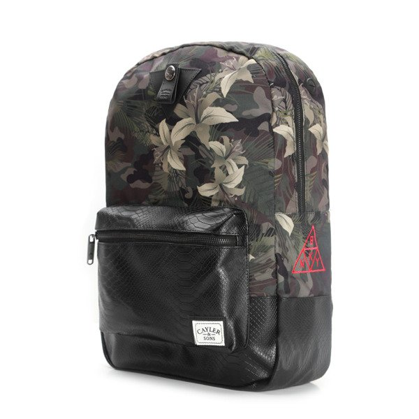 Cayler & Sons BKNY Uptown Backpack black / woodland flowers WL-CAY-AW16-BP-03