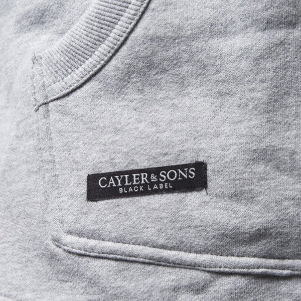 Cayler & Sons BL CSBL Zip Hoody grey heather / red checked (BL-CAY-SS16-AP-07)