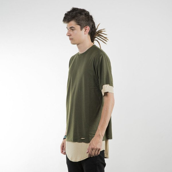 Cayler & Sons BL t-shirt Deuces Long Layer olive / sand BL-CAY-SU16-AP-10-02