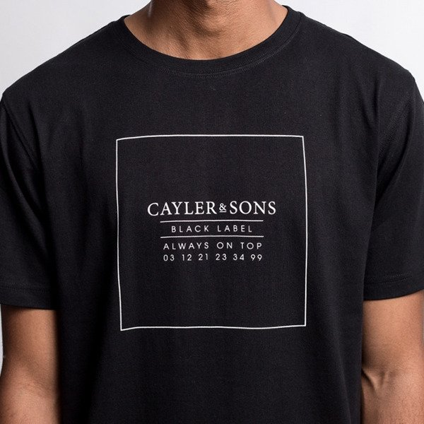 Cayler & Sons BLACK LABEL koszulka t-shirt Always On Top Long Tee black / white BL-CAY-AW16-AP-27