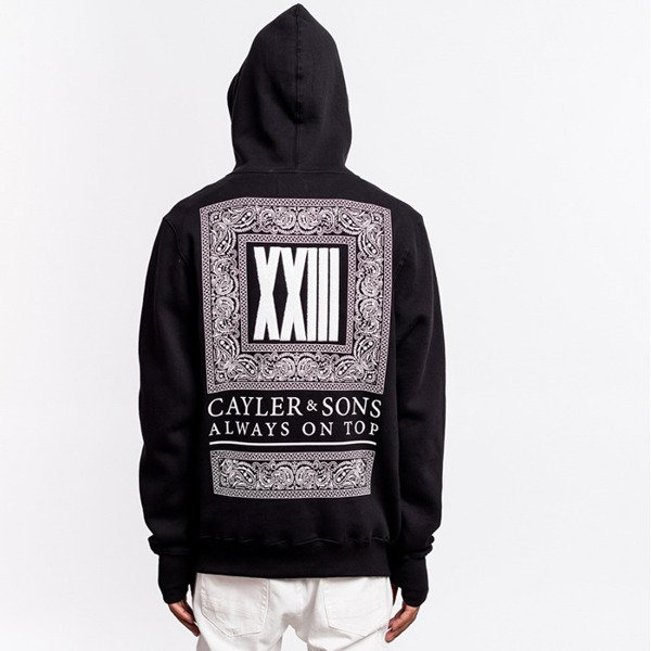 Cayler & Sons BLACK LABEL sweatshirt Bumrush Hoody black / white BL-CAY-AW16-AP-12-02