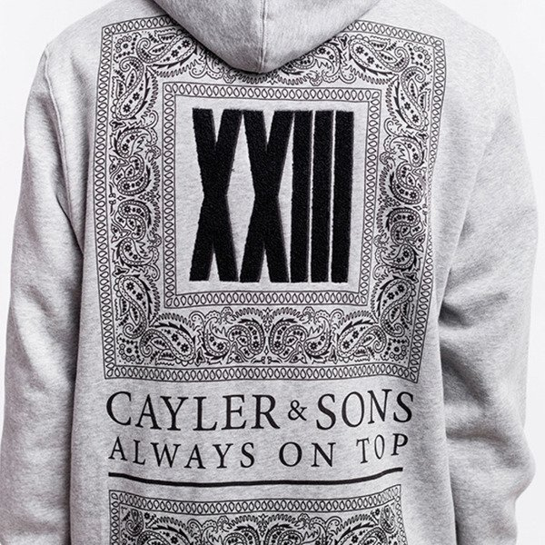 Cayler & Sons BLACK LABEL sweatshirt Bumrush Hoody grey / black BL-CAY-AW16-AP-12-01