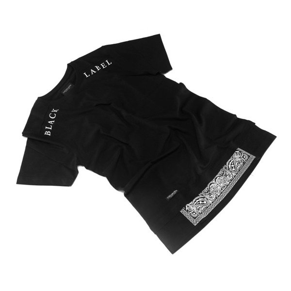 Cayler & Sons BLACK LABEL t-shirt Bumrush Long black / white BL-CAY-AW16-AP-24-01
