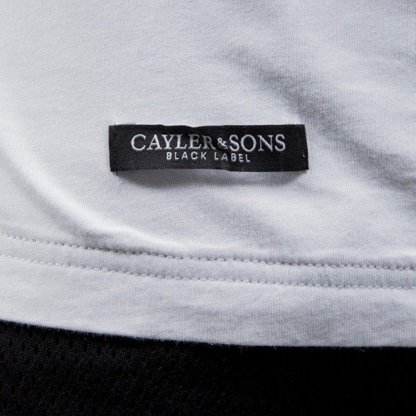 Cayler & Sons BLACK LABEL t-shirt Kids Want Long white / black (BL-CAY-SS15-AP-13-01)