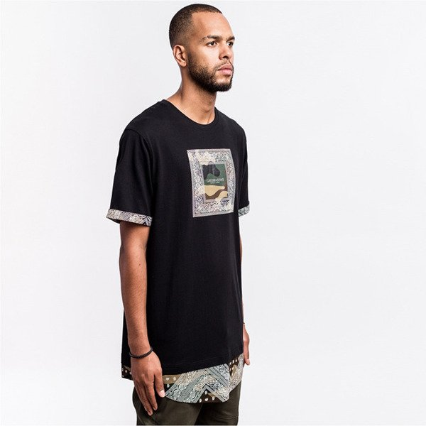 Cayler & Sons BLACK LABEL t-shirt Paiz Long Tee black / woodland / white BL-CAY-AW16-AP-28