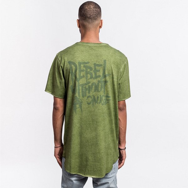 Cayler & Sons BLACK LABEL t-shirt Ripped Scallop Tee olive / olive BL-CAY-AW16-AP-29-01