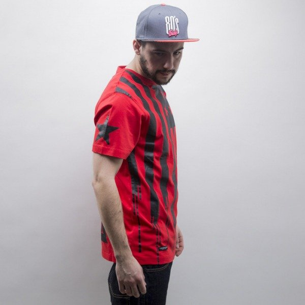Cayler & Sons BLACK LABEL t-shirt V$A red / black (BL-CAY-SS15-AP-15-01)