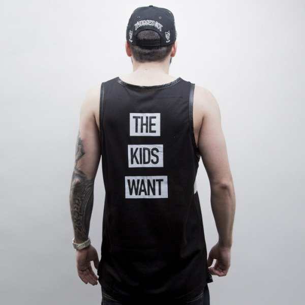 Cayler & Sons BLACK LABEL tank top Kids Want Mesh Jersey black / white (CAY-SS15-AP-20-01)