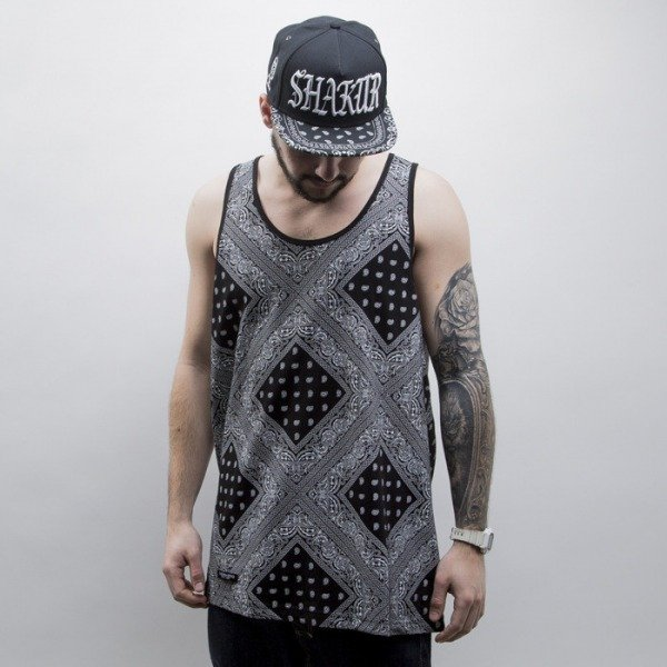 Cayler & Sons BLACK LABEL tank top Paiz black / white (CAY-SS15-AP-18-01)