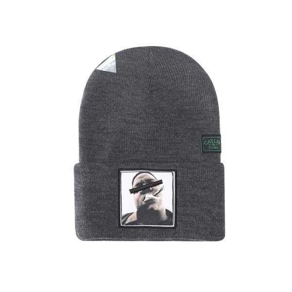 Cayler & Sons Bedstuy Old School Beanie grey / white / mc GL-CAY-AW16-BN-05