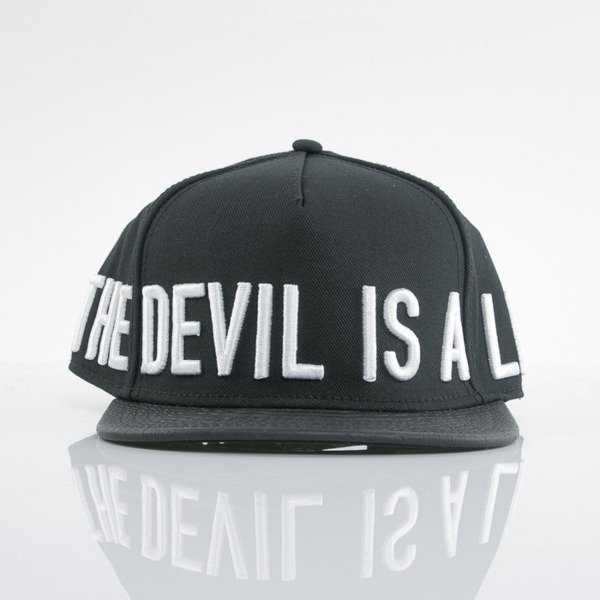 Cayler & Sons Black Label cap snapback Devil Is A Lie black / white (BL-CAY-AW15-07-OS)