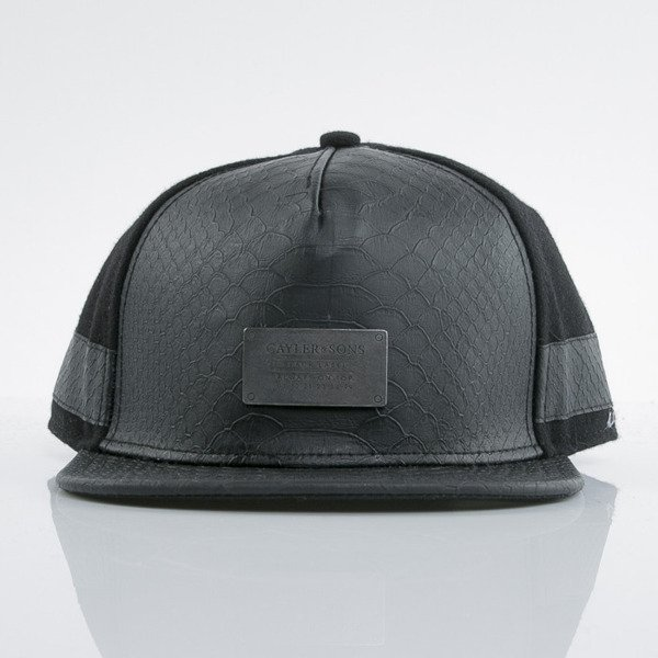 Cayler & Sons Black Label cap snapback Plated black / black / snake (BL-CAY-AW15-11-03-OS)