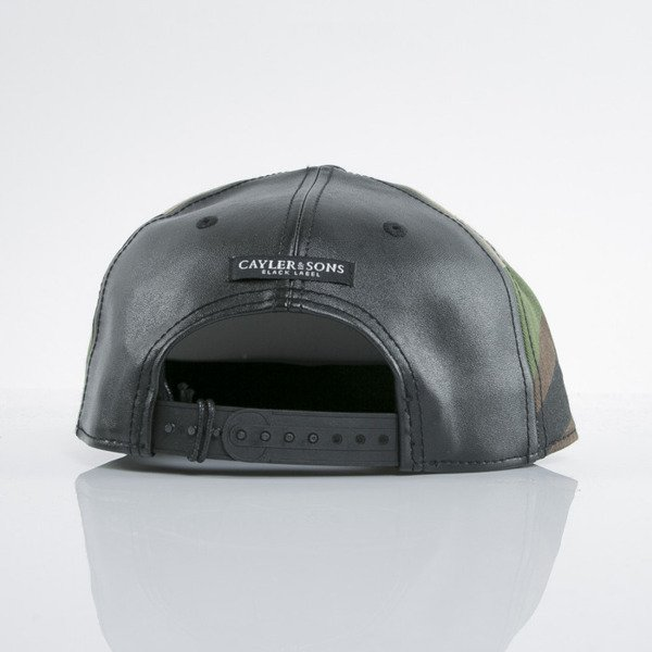 Cayler & Sons Black Label cap snapback Plated black / woodland (BL-CAY-AW15-11-01-OS)