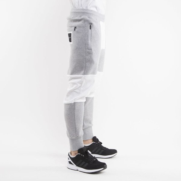Cayler & Sons Black Label sewatpants Tres Slick Low Crotch grey heather / white BL-CAY-AW15-AP-26-02