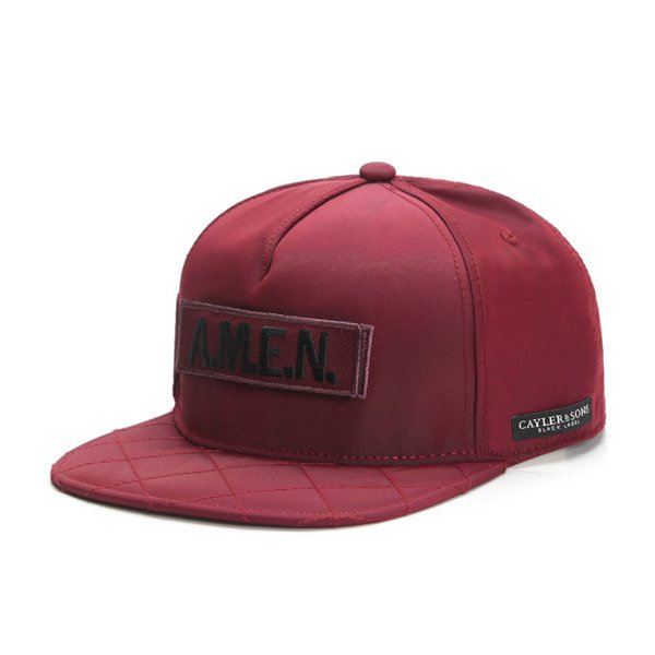 Cayler & Sons Black Label snapback Flight Cap maroon / orange (BL-CAY-SS16-12-01)