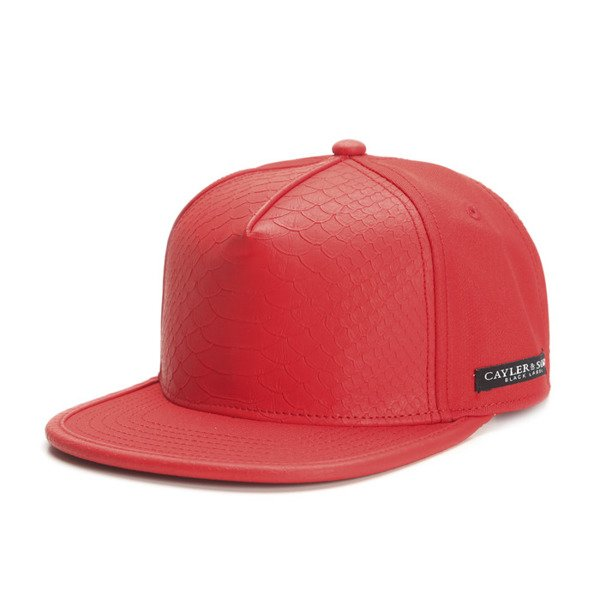 Cayler & Sons Black Label snapback Pyramid Cap red / red snake (BL-CAY-SS16-03)