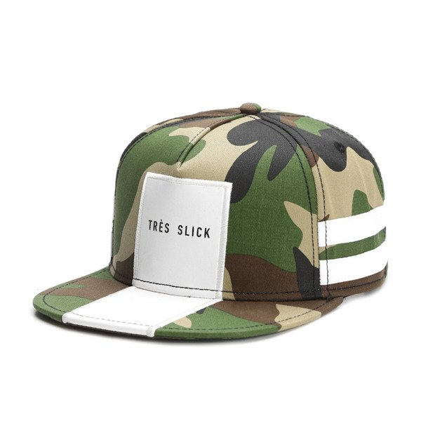 Cayler & Sons Black Label snapback Tres Slick Cap woodland / white (BL-CAY-SS16-07-02)
