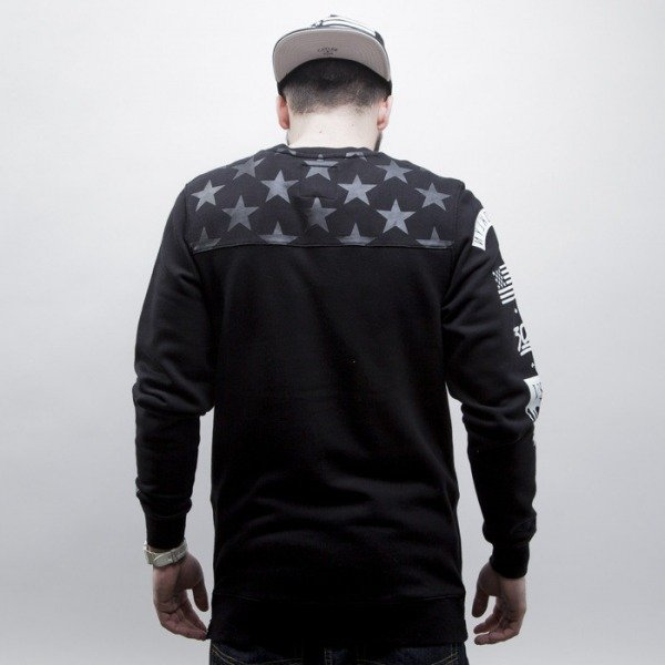 Cayler & Sons Black Label sweatshirt Flagged Long crewneck black / white (BL-CAY-SS15-AP-07-01)