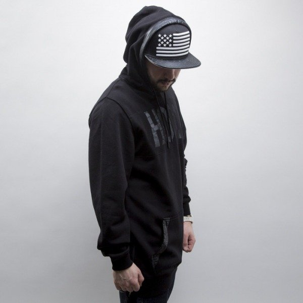 Cayler & Sons Black Label sweatshirt Hood Love Long hoody black / white (BL-CAY-SS15-AP-04-01)