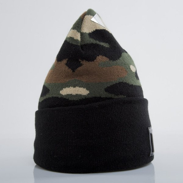 Cayler & Sons Black Label winter cap Plated Old School Beanie woodland / black (BL-CAY-AW15-BN-02-02-OS)