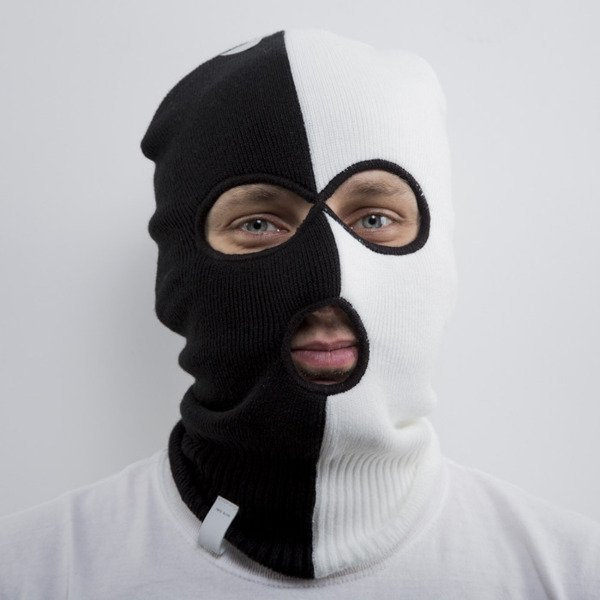 Cayler & Sons Black Label winter cap Tres Slick Ski Mask black / white (BL-CAY-AW15-SM-01-OS)