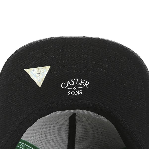 Cayler & Sons Green Label snapback B&M Cap black / white (GL-CAY-SS16-25-01)